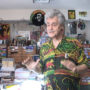 Roger Steffens in his Reggae Archives, Los Angeles