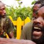 Nyabinghi Drummers in the Bob Marley Museum Yard, Kingston