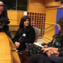 Director Abbey Neidik with Chana Carlebach at the European Union (Belgium)